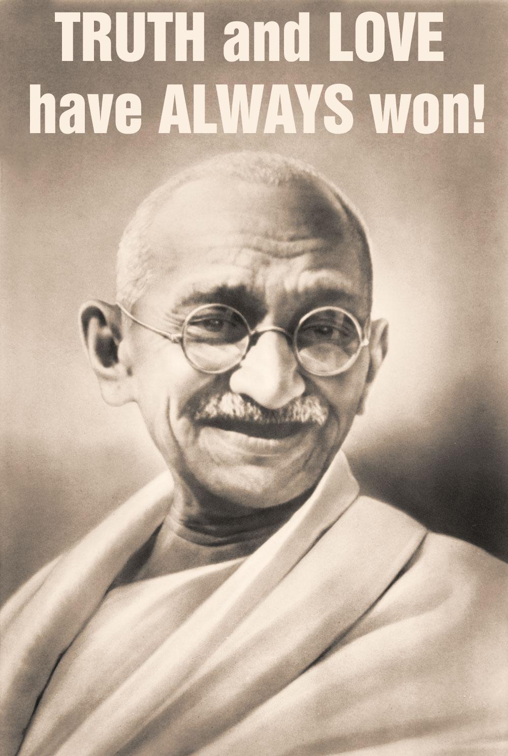 Mahatma Gandhi Zitate Satyagraha